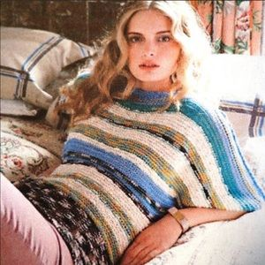 Anthropologie Rosie Neira Marled Bands Crochet